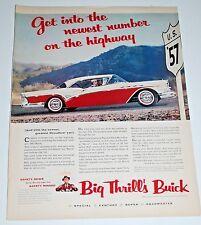 Vintage Car Ad — 1957 — Buick Century Celebrating the new U.S. 57 Highway
