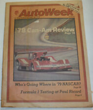 AutoWeek Magazine '78 Can-Am Review Nascar December 1978 123014R