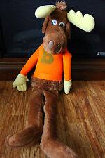 "Bullwinkle Stuffed Plush Huge Over 24"" Rare 1982 Wallace Berrie Moose Animal"