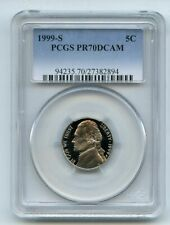 1999 S 5C Jefferson Nickel PCGS PR70DCAM