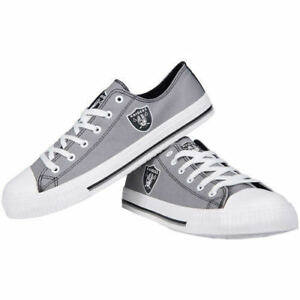 NFL Oakland Raiders Big Logo Low Top Men's Sneakers Shoes NEW