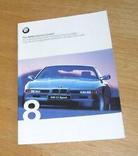 BMW 8 Series Coupe Brochure 1998 - 840 CI & 840CI Sport