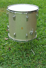 "RARE 1963 Ludwig 16"" SILVER SPARKLE PEARL FLOOR TOM for YOUR DRUM SET! #F51"