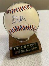 GREG MADDUX 1997 ALL STAR GAME SIGNED BALL ATLANTA BRAVES