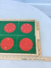 Kids Montessori Fraction Learning Insert Boards Puzzles for Math Education