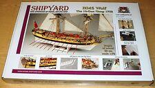 HMS Wolf 1754 in 1/72 von Shipyard Papiermodell Lasercut
