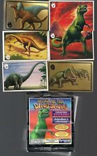 ATTACK OF THE DINOSAURS DYNAMIC 1993 STICKER LOT NEAR SET 140/156 + 2 CHASE WRAP