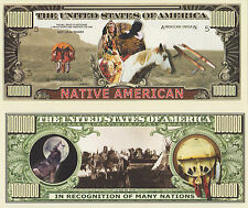 RARE: Native America $1,000,000 Novelty Note, Indian Buy 5 Get one FREE