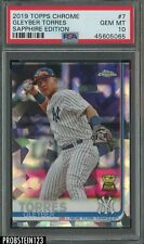 2019 Topps Chrome Sapphire Edition Gleyber Torres New York Yankees PSA 10