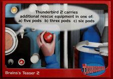 THUNDERBIRDS - Brains's Teaser 2 - Card #66 - Cards Inc 2001