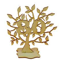 Jubiläumsbaum Geburtstag, 80 Jahre aus Holz 16cm Lebensbaum Geschenk Hochzeit