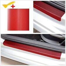 4pcs 3D Carbon Fiber Look Car Door Plate Sill Scuff Cover Anti-Scratch Sticker