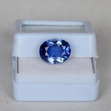 Natural Royal Blue Sapphire 3.75 Ct Kashmir Oval Cut Certified Loose Gemstone