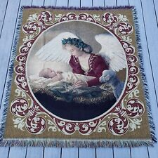 Mohawk Home Faithful Watch Tapestry Sofa Throw Baby Jesus Mary Lamb Religious