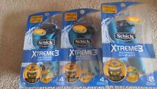 16 (4 + 4 + 8) SCHICK XTREME 3 REFRESH MEN'S Disposable Razors