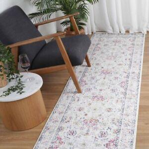 Erith Colourful Allover Floral Transitional Floor Rug Runner - 80x300cm