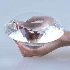 LONGWIN 150mm Crystal Glass Paperweight Jewel Faceted Cut Giant Diamond Decor