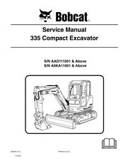 New Bobcat 335 Compact Excavator Updated 2010 Edition Repair Service Manual