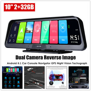 "10"" Touch Android 8.1 2G+32G Car Console Navigator GPS Dual Camera Reverse Image"
