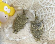 HOT Wholesale Lady 2Pair/lot Charm Fashion Jewelry Copper Owl Stud Earrings NEW
