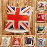 Linen Cotton Lovely Animals Throw Pillow Case Cover With Cushion Home Sofa