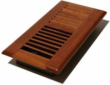 Set of 2 - Decor Grates Register Louvered Natural  Solid Chery 4