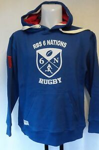 6 NATIONS SUPPORTERS BLUE HERITAGE HOODY SIZE MEN'S SMALL BRAND NEW WITH TAGS