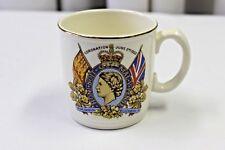 1953 Coronation QUEEN ELIZABETH II Mug Royal A J Wilkenson England