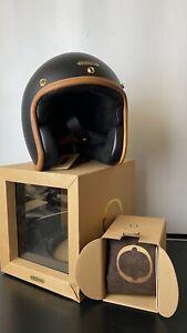 Hedon Hedonist Jet Retro Safety Helmet - Black - Size M