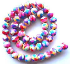 Butterfly Polymer Clay Fimo Beads 10mm x 50 In Assorted Bright Designs 1mm Hol