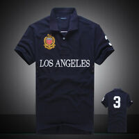 BNWT Men's Polo T-Shirts Summer Casual Short Sleeve Shirt 100% Cotton All Size