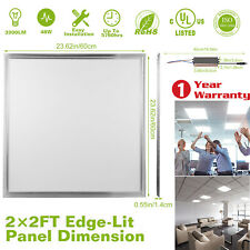 48W 2x2 Ft Recessed LED Panel Light Ceiling Down 7500K Cold White Home Office US