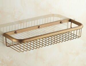 45cm Antique Brass Bathroom Accessory Shower Shelf Storage Basket Holder wba031