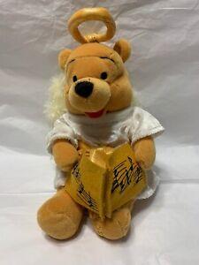 Disney Store Winnie The Pooh Choir Angel   Stuffed Plush Animal Beanie 2000