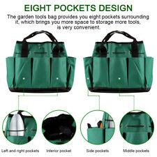8-Pocket Garden Tool Bag Tool Carrier Organiser Planting Tool Set Storage Bag UK