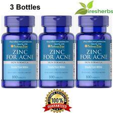 ZINC FOR ACNE SKIN FORMULA 300 TABLETS MULTIVITAMIN PILL HIGH POTENCY SUPPLEMENT