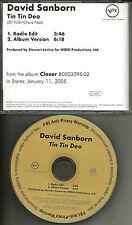 DAVID SANBORN Tin Tin Deo w/ RARE RADIO EDIT PROMO DJ CD single 2004 USA MINT
