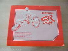 00X69-KZ3-6300 69KZ3630 Manual De Taller Honda CR250R V 97