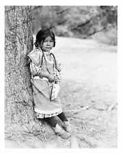 Vintage photo-American Indian Girl-Umatilla-8x10 in.