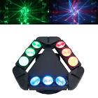 Spider Head Moving Light 9 LEDs DJ Lights RGB DMX-512 Spot Beam Lighting Club