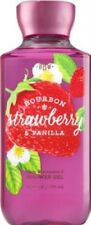 Bath & Body Works Bourbon Strawberry & Vanilla Shower Gel ~ LOT OF 3 ~Ships Free