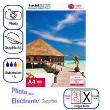 A4 Dye Sublimation Transfer Paper for Epson Inkjet Printer (100 Sheets) 100gsm