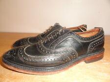 Men's Black Leather ALLEN EDMONDS McTavish 4005 Wingtip Dress Shoes Oxfords 8D