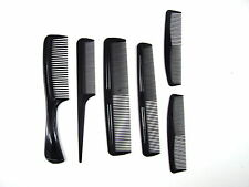6pc Set per capelli Styling pettine PROFESSIONALE NERO PARRUCCHIERI BARBIERI Tasca