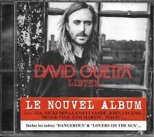 CD DAVID GUETTA LISTEN 14T INCLUS DANGEROUS NEUF SCELLE FRENCH STICK