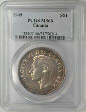 Canada 1949 Silver Dollar PCGS MS-66