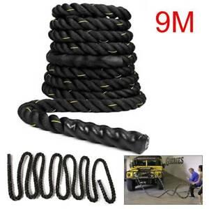 9M 50mm Battle Rope Battling Sport Power Ropes Gym Exercise Fitness Training