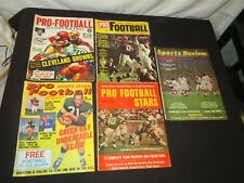 1960s OLD FOOTBALL MAGAZINES PRO FOOTBALL ILLUSTRATED SPORTS REVIEW STAR UNITAS