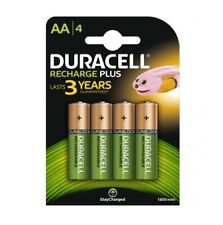 """NEW DURACELL AA SIZE 4 PACK RECHARGEABLE 1300 mAh BATTERIES """"DURHR6B4-1300"""""""