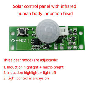 3.7V Night Light Infrared Control Panel Lamp Solar LED Lamp Circuit Board Module